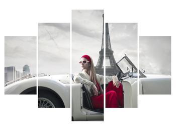 Obraz Eiffelovej veže a auta (K011413K150105)
