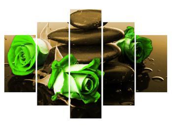 Zöld rózsa kép (K011423K150105)