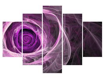 Modern kép lila rózsával (K011482K150105)
