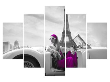 Obraz Eiffelovy věže a auta (K011513K150105)