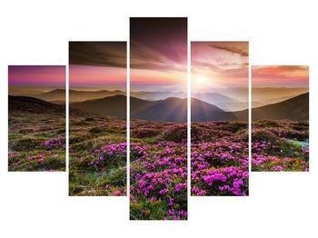 Tablou cu peisaj montan înflorit (K011514K150105)
