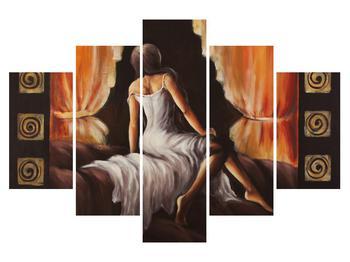 Tablou cu femeie mistică în roșu (K011619K150105)