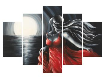 Obraz ženy v červených šatech (K011620K150105)