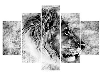 Černobílý obraz lva (K011912K150105)
