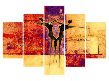 Tablou abstract cu doi dansatori (K011975K150105)