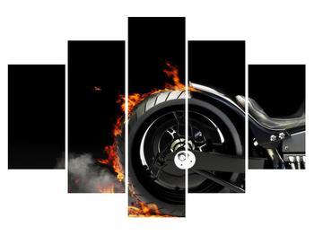 Tablou cu cerc în foc (K011990K150105)