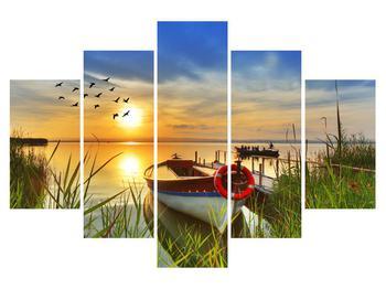 Tablou cu barcă pe lac (K012049K150105)
