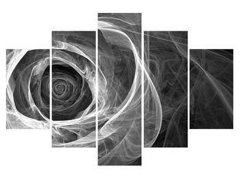 Tablou albnegru abstrac cu trandafir (K012130K150105)