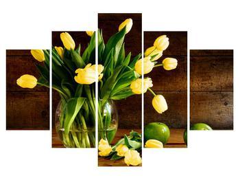 Obraz žlutých tulipánů ve váze (K012154K150105)