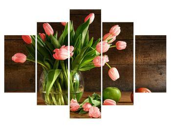 Tablou cu lalele roșii în vază (K012157K150105)