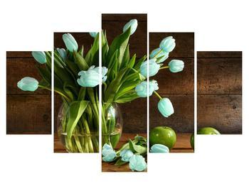 Tablou cu lalele albastre în vază (K012160K150105)