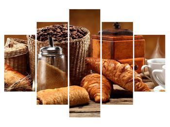 Tablou cu croissant și  cafea (K012163K150105)
