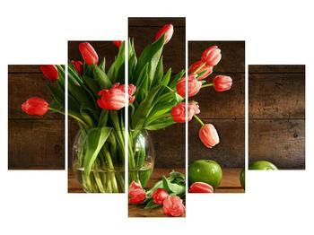 Tablou cu lalele  roșii în vază (K012199K150105)