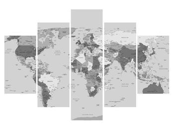 Černobílý obraz mapy světa (K012202K150105)