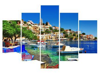 Letní obraz středomořského přístavu (K012239K150105)