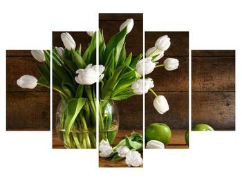 Tablou cu lalele albe în vază (K012246K150105)