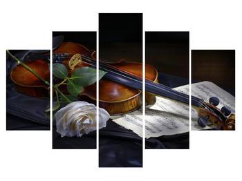 Tablou cu trandafir și vioară (K012349K150105)