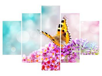 Obraz motýla na květech (K012351K150105)