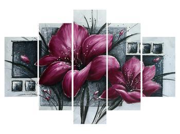 Moderný obraz kvetov (K012355K150105)