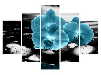 Tablou cu flori de orhidee albastre (K012398K150105)