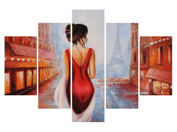 Obraz ženy a Eiffelovej veže (K012434K150105)