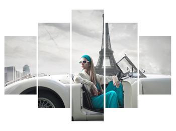 Obraz ženy a Eiffelovej veže (K012465K150105)