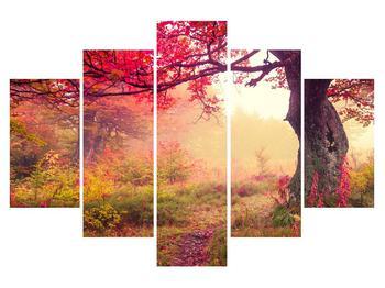 Obraz jesennej lesnej krajiny (K012510K150105)