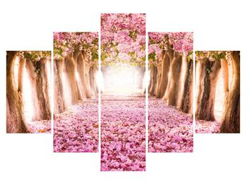 Tablou cu poteca din flori (K012511K150105)