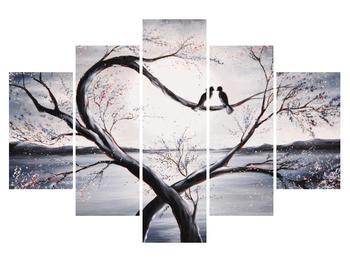 Tablou cu păsări îndrăgostite (K012516K150105)