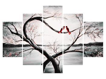 Tablou cu păsări îndrăgostite (K012527K150105)