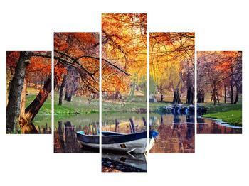 Podzimní obraz loďky (K012534K150105)