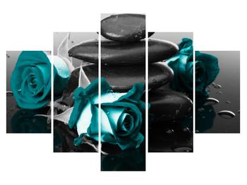 Obraz modrých růží (K012553K150105)
