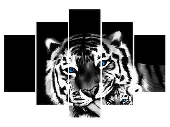 Obraz tygra s mládětem (K012573K150105)