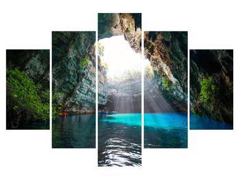 Obraz jeskyně s vodní plochou (K012667K150105)