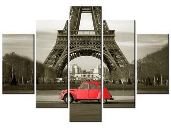 Tablou cu turnul Eiffel și mașina roșie (K013533K150105)