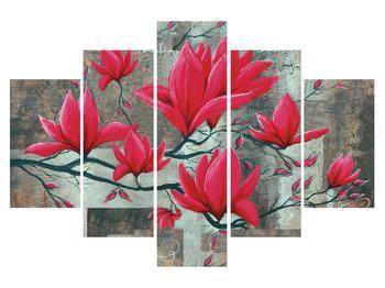 Obraz červených květů (K013535K150105)