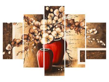 Obraz orchideje ve váze (K013896K150105)