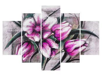 Obraz růžových květů (K013898K150105)