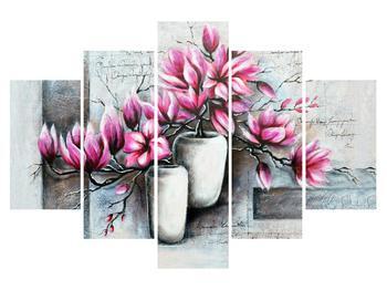 Obraz květů ve váze (K013906K150105)