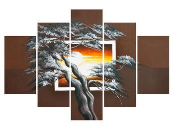 Moderní obraz stromu a východu slunce (K014021K150105)