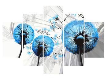 Tablou albastru cu păpădii (K014027K150105)