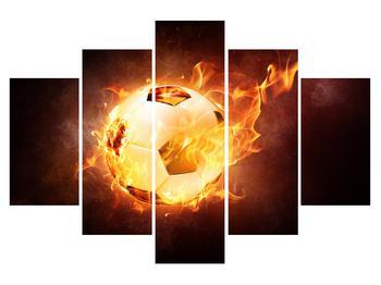 Obraz futbalovej lopty v ohni (K014167K150105)
