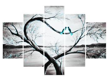 Tablou cu două păsări în copac (K014194K150105)