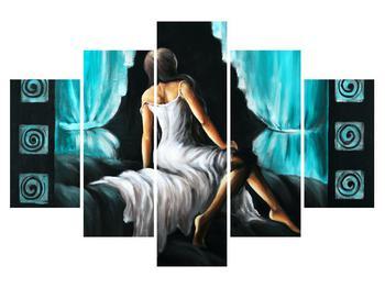 Obraz ženy v šatech (K014467K150105)
