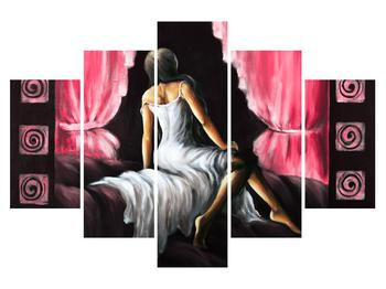 Obraz ženy v šatech (K014584K150105)