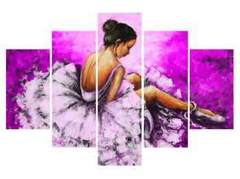 Obraz sedící baletky (K014590K150105)