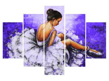 Obraz sedící baletky (K014610K150105)