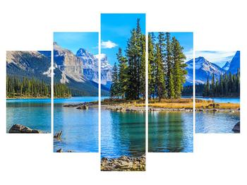 Tablou cu peisaj montan și râu (K014679K150105)