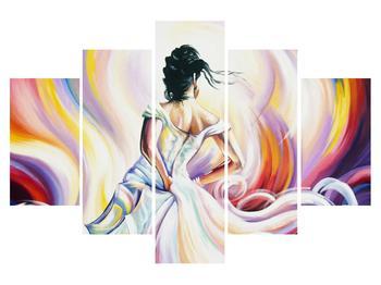 Obraz tanečnice v šatech (K014680K150105)