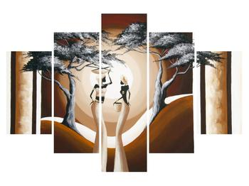 Orientální obraz dvou žen a stromu  (K014682K150105)
